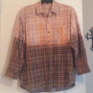 Ombré flannel button up shirt!